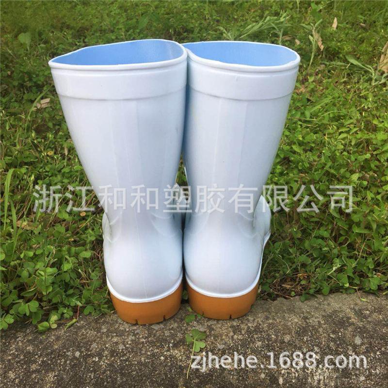 白色雨靴水鞋套鞋膠鞋防滑防水廠家直接可定做雨鞋耐磨定製