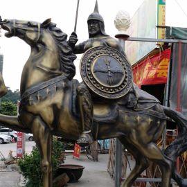 户外大型骑士马雕塑 仿真玻璃钢雕塑马树脂欧式动物