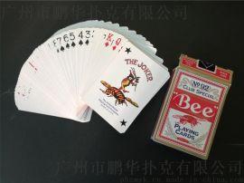 广东蜜蜂扑克牌厂家,广东蜜蜂扑克定做,黑芯扑克定做