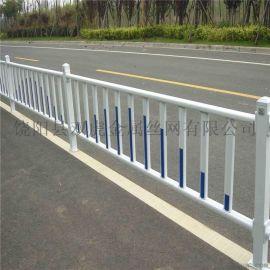 北京道路市政护栏网城市路中广告牌隔离栏白色