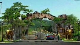扬州假山扬州假树大门扬州仿木栏杆