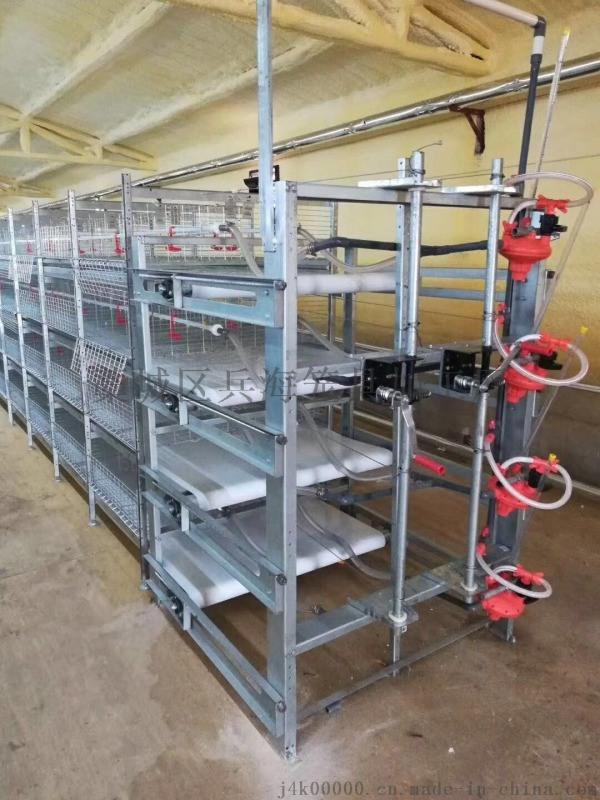 出口非洲专用肉鸡笼,电镀锌3层两位层叠式鸡笼子