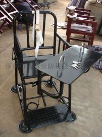 [鑫盾安防]不锈钢标准型审讯椅 树脂白板钥匙型审讯桌椅新款