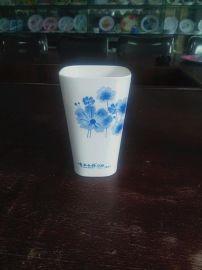 厂家专业订制密胺美耐皿仿瓷广告礼品杯