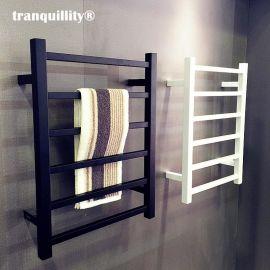 噴塗式黑/白不鏽鋼電熱毛巾架,壁掛式電熱浴巾架