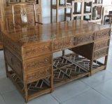 西安仿古办公桌尺寸、实木红木厂家、中式办公桌效果图