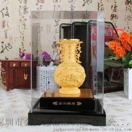 金莱福金玉满堂花瓶摆件绒沙金工艺品家居装饰摆设