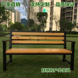 小区公园椅|防腐木座椅|室外长条椅