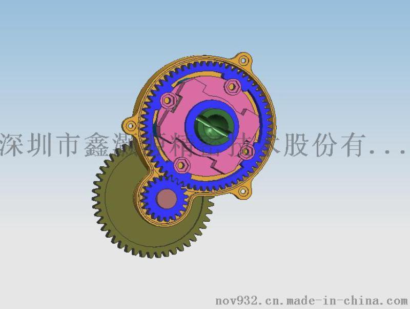 定制扭矩转速微型齿轮箱_无杂声无噪音大扭力齿轮箱