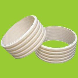 PVC波纹管 米黄色波纹排污管 抗压力强