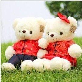 情侣唐装泰迪熊