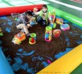 充氣沙池玩具套裝單層雙層釣魚池兒童沙灘池加厚