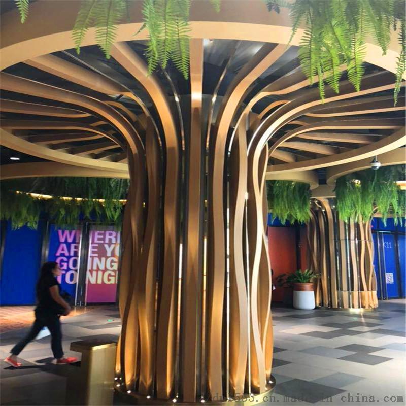 热转印铝方管 木纹铝方管 星级酒店铝方管