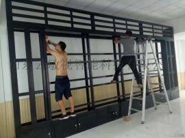 云敏视电视墙机柜定制可做门可做橱子高度可调