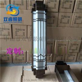 厂家定制户外仿云石壁灯中式古铜不锈钢室外墙壁灯