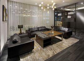 虹桥办公沙发简约现代三人位商务接待会客室沙发