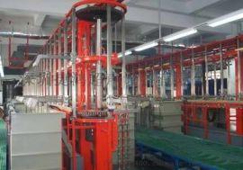 定制工业用五金行业机械臂式多槽全自动龙门电镀生产线