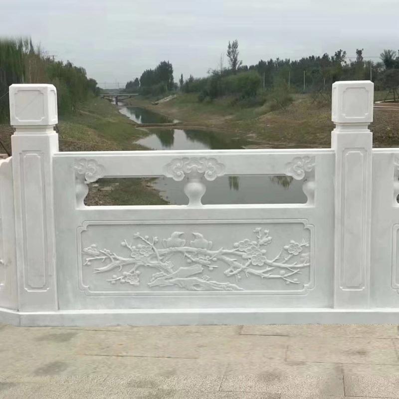 汉白玉栏杆供应商曲阳县聚隆园林雕塑