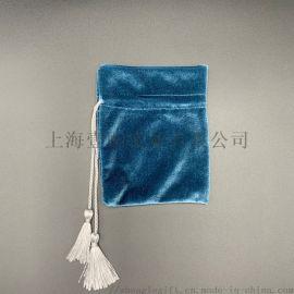 绒布束口袋抽绳拉绳可印LOGO收纳袋定做束口绒布袋