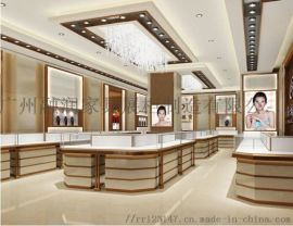 广州融润家具时尚商场不锈钢珠宝展示柜制作设计
