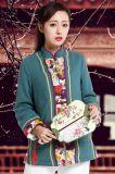 厂家批发 手绘复古中国风棉袄唐装女士上衣 演出服