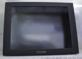 15寸工业铝合金外壳 高精密多点电容触摸屏显示器 LED高亮工业触摸屏显示器