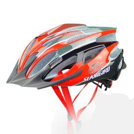 外贸款男女通用自行车公路车山地车一体成型骑行头盔