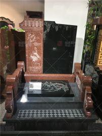 福建花岗岩墓碑 黑大理石影像墓碑 豪华石类工艺品