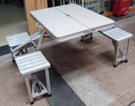 厂家直销折叠桌铝合金折叠桌椅野餐桌促销桌椅平安桌