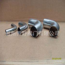304不锈钢90度自动焊加长弯头,内外镜面抛光