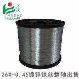 鋼筋扎絲批發電鍍鋅鐵絲普通鐵絲26#0.43mm到0.46mm軟銀色圓鐵絲
