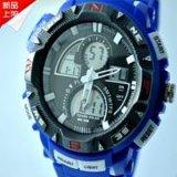 生產批發成強電子雙機芯多功能學生流行品牌手錶義烏商貿手錶