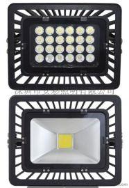 山东新款防水性高亮度FS408型材压铸铝拉伸铝黑色外壳普瑞芯片集成COB灯珠30W50W80W100W120WLED投射灯投光灯厂家批发
