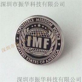 厂家订做紫铜冲压印刷珐琅胸章徽章