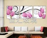 佳匯藝術玻璃三聯畫裝飾畫背景牆畫