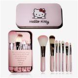 HELLO KITTY粉色彩妝盒 、哆啦A夢藍胖子化妝刷盒 7件套
