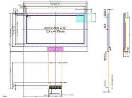 OLED2.4寸显示屏 LCM模块 工业显示屏