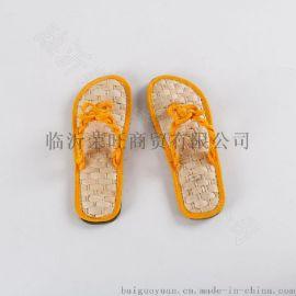 中国结夹角,玉米皮草底草编草鞋 (CX034)