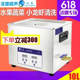 洁盟JP-040S 10L 家用超声波清洗机 小龙虾清洗机 果蔬清洗机
