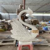 佛山玻璃钢白天鹅雕塑 公园水景动物雕塑摆件