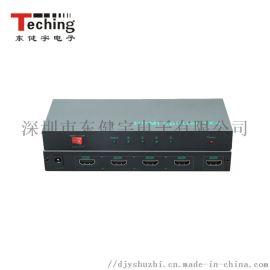 HDMI分配器视频信号1进4出4k分配器