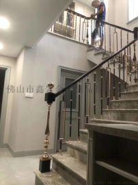 24k金酒店铜楼梯厂家