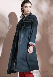 时尚女装拿货微信译外20年冬装新款女式风衣外套