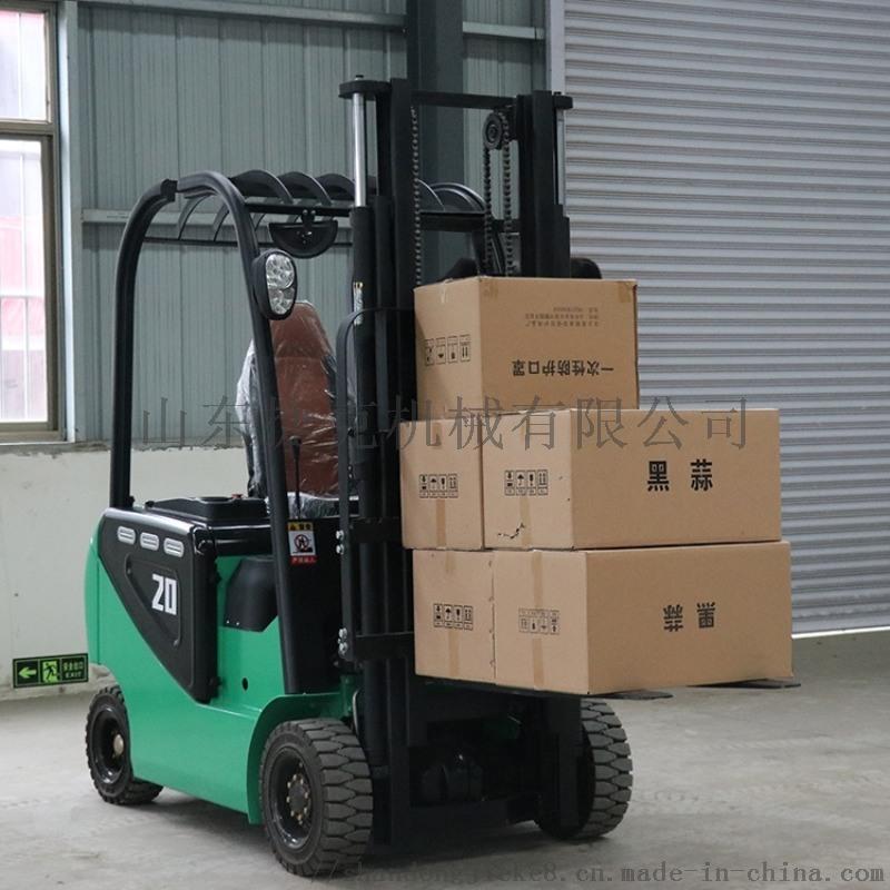 捷克电动叉车 四轮环保货物搬运电动叉车 2吨