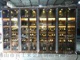 酒窖酒庄不锈钢酒柜定制玻璃酒柜灯光不锈钢酒柜定制