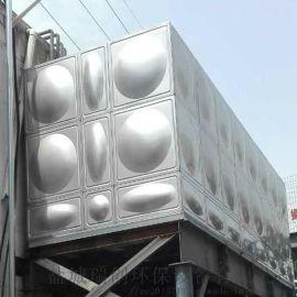 厂家定做不锈钢生活水箱 消防水箱 现场焊接安装