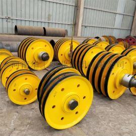 20t起重机滑轮组 带加轮铸钢滑轮 吊钩抓斗定滑轮