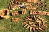 儿童户外大型防腐炭烧积木 大型防腐积木