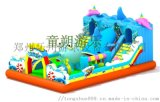 陝西公園兒童充氣蹦牀新款