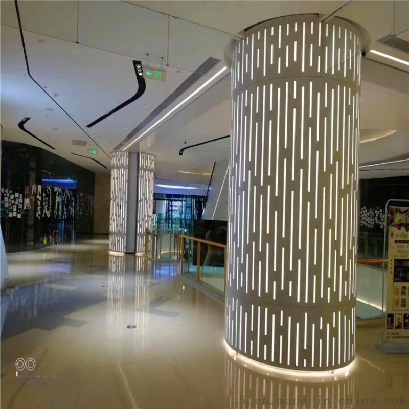 包柱艺术铝单板定制 炫彩艺术透光铝单板包柱